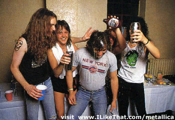 Metallica вместе с молодым Peter Mensch