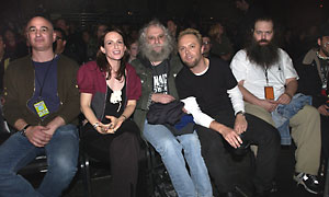 Peter Mensch, Cliff Burnstein, Lars Ulrich & Rick Rubin